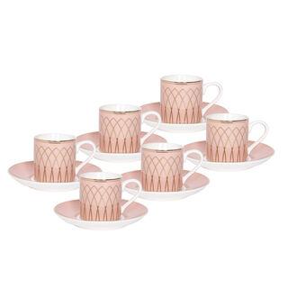 طقم اكواب القهوه التركيه بورسلان 12 قطعة من لاميسا