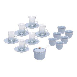 طقم شاي و قهوه بورسلان 20 قطعة