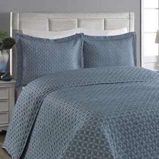 غطاء سرير سوبر كنج لون أزرق من كوتاج
