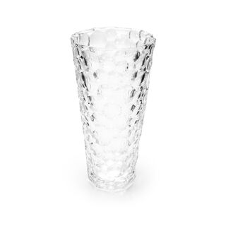 مزهرية زجاج شفاف