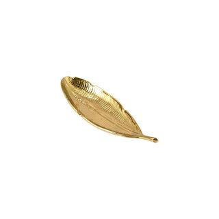 تحفة تصميم ورق شجر للديكور لون ذهبي