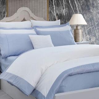 طقم غطاء لحاف 6 قطع من القطن 260*240 سم لون أزرق مقاس كينج من بوتيك بالانش