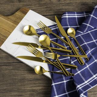 طقم ادوات المائدة 20 قطعة لون ذهبي مطفي ماجستيك من لاميسا