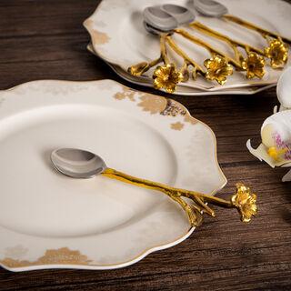 لاميسا طقم ادوات مائدة 6 قطع  لون فضي وذهبي