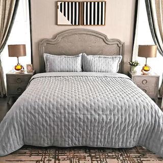 طقم غطاء سرير 3 قطع كينج لون أخضر من كوتاج