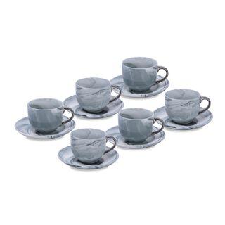 طقم اكواب قهوة لون فضي 12 قطعة من لاميسا