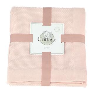 بطانية صيفية من القطن مفرد لون ابيض من كوتاج
