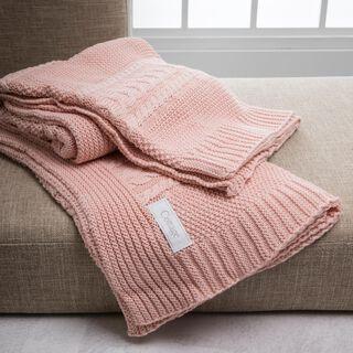 بطانية خفيفة من القطن لون وردي