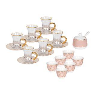 طقم شاي و قهوه بورسلان 20 قطعة من لاميسا