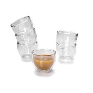 طقم فناجين قهوة زجاج مزدوج 6 قطع
