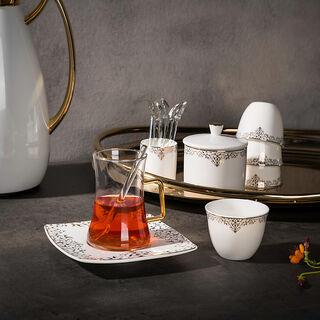 طقم كاسات قهوة مع شاي 28 قطعة