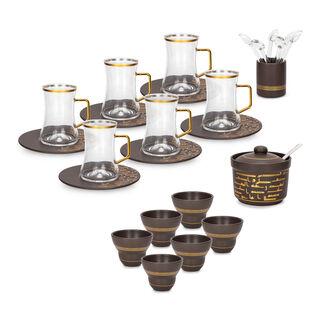 طقم شاي و قهوة 28 قطعة