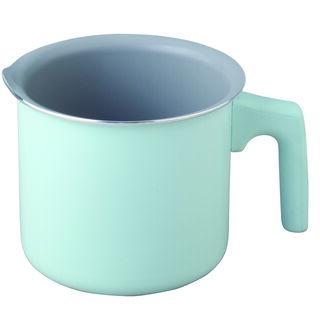 وعاء لغلي الحليب بسطح غير لاصق لون أخضر