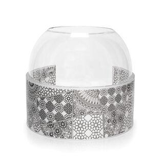 مزهرية من الزجاج والأكريلك دائرية الشكل