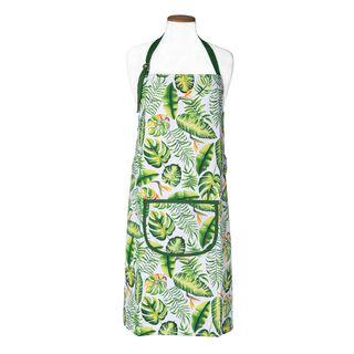 مريلة مطبخ تصميم ورق أخضر