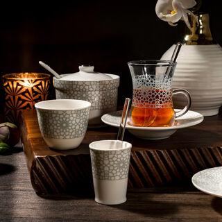 طقم شاي و قهوة بورسلان 28 قطعة من زخرف