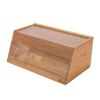 صندوق من الخيزران لحفظ الخبز بغطاء اكريلك من البرتو