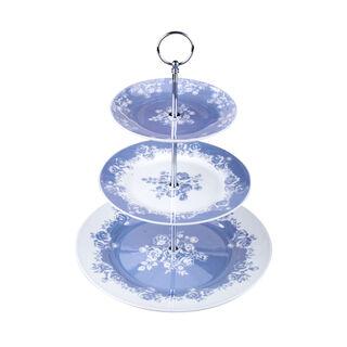 طبق تقديم للكيك 3 طبقات لون ازرق من لاميسا