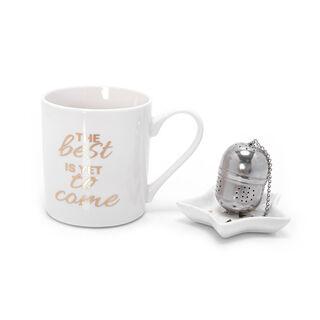 طقم من 3 قطع كوب للقهوة و الشاي مع مص