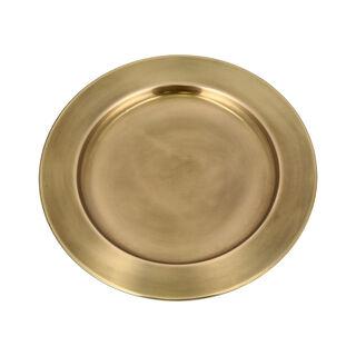 طبق لأسفل صحن المائدة ذهبي