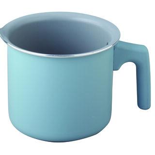 وعاء لغلي الحليب بسطح غير لاصق لون أزرق