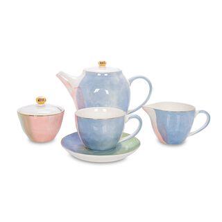 طقم شاي انجليزي لـ4 اشخاص كولورز اوف