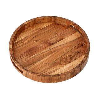 صينية تقديم دائرية من الخشب