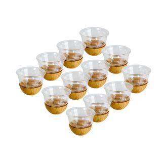 طقم 12 فناجين قهوة خيزران
