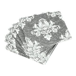 مناديل ورقية مربعة لون رمادي من امبيانتي