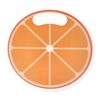 لوح تقطيع بلاستيك دائري تصميم برتقال