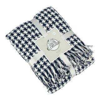 بطانية قطن مقاس 160x200 لون ازرق غامق من كوتاج