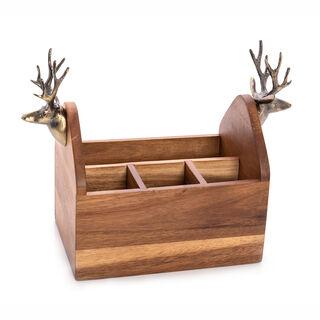 حامل ادوات مائدة خشبي