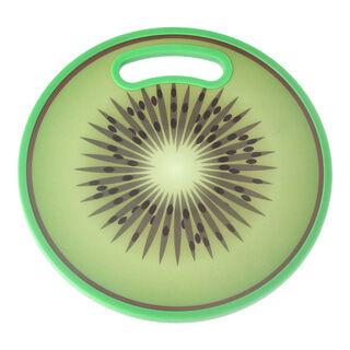 لوح تقطيع بلاستيك دائري تصميم كيوي
