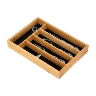 منظم خشب لادوات المطبخ لون اسود من البرتو