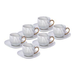 طقم أكواب قهوة مع قاعدة من لا ميسا   12 قطعة