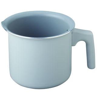 وعاء لغلي الحليب بسطح غير لاصق لون رمادي