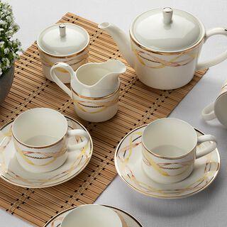 طقم أكواب شاي 17 قطعة