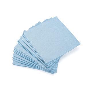 مناديل ورقية مربعة الشكل لون ازرق من ليسا