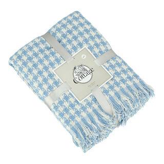 بطانية قطن مقاس 160x200 لون ازرق من كوتاج