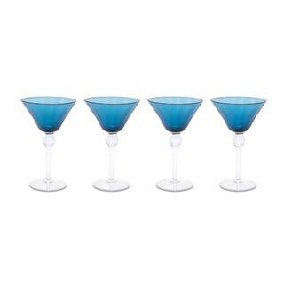 طقم كاسات زجاجية 4 قطع لون ازرق من لاميسا