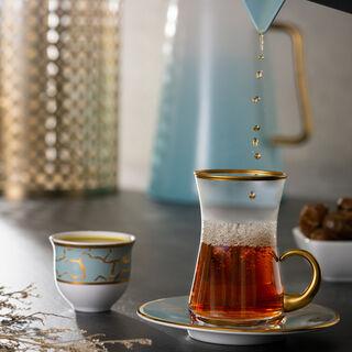 طقم شاي و قهوة 18 قطعه