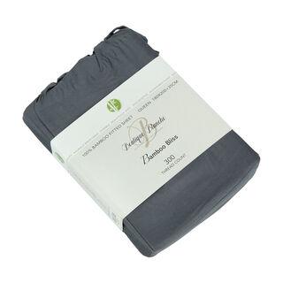 شرشف سرير بمطاط 180*200 سم لون ازرق من بوتيك بلانش