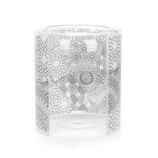 مزهرية من الزجاج والأكريلك مستطيلة الشكل