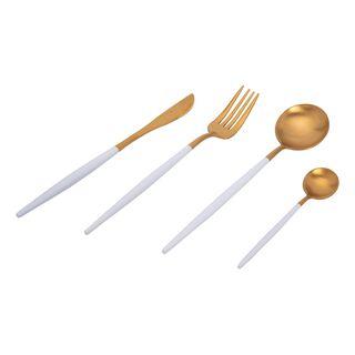 طقم أدوات مائدة ذهبي من لا ميسا
