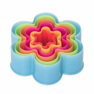 قواطع كوكيز بلاستيكية طقم 5 قطع متعددة الأشكال