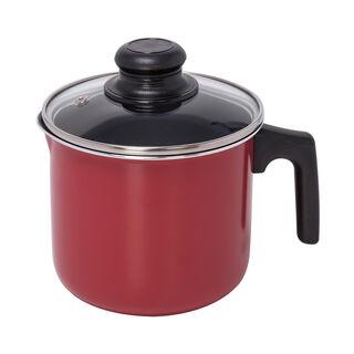 وعاء لغلي الحليب لون أحمر