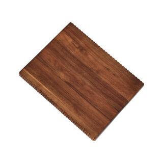 لوح تقطيع من خشب بمقبض بني