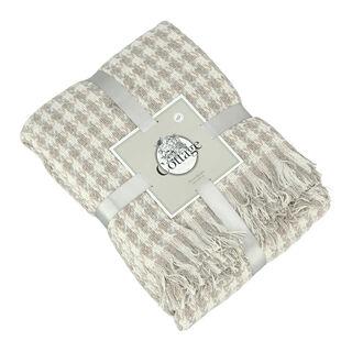 بطانية قطن مقاس 160x200 لون بيج من كوتاج