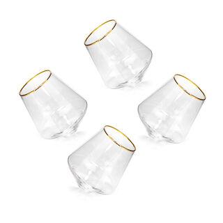 طقم كاسات زجاج 4 قطع من لاميسا