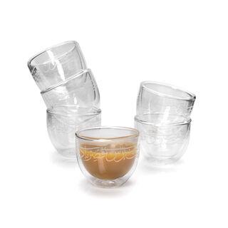 طقم أكواب قهوة زجاج 6 قطع